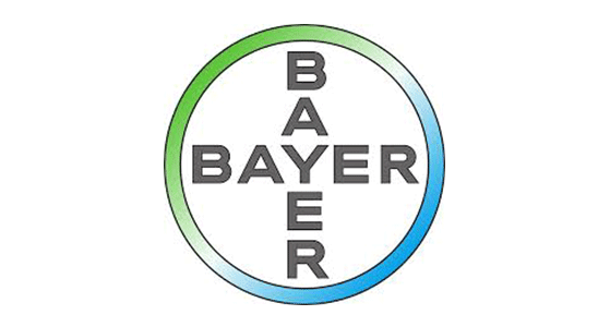 Bayer logo; Social media marketing