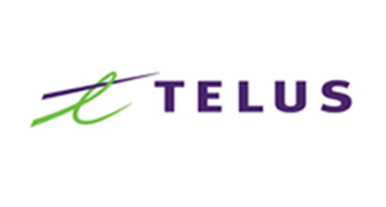 Telus Logo; Social Media marketing